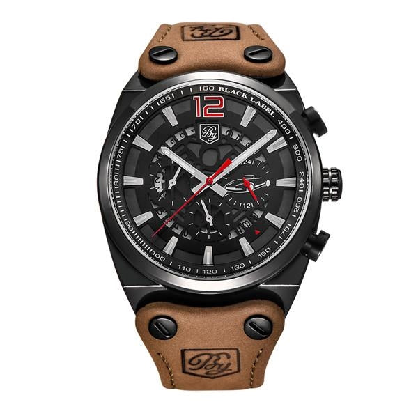 "Military Men's Watch ""The Golfur"" - Red Dial"