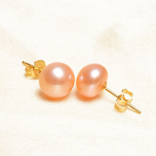 Imposing Pearl Stud Earring Set