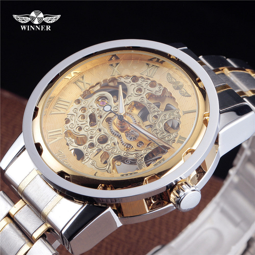 Classic Golden  Style Military Wristwatch