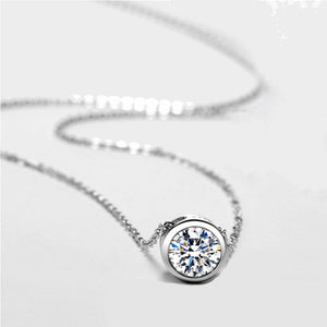Blue Hope Sterling Silver Pendant Necklace