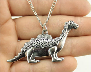 Benji The Dinosaur Pendant Long Necklace
