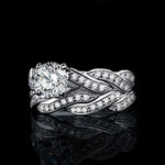 925 sterling silver and diamonds Ring Set