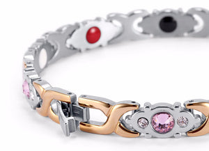 Womens Sexy Steel Gem Bracelet