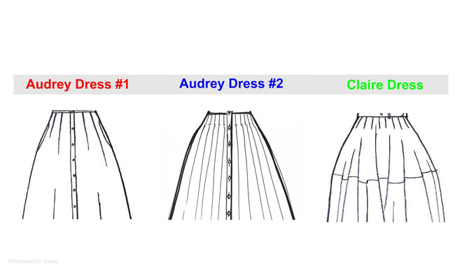 Difference Audrey & Claire Dress