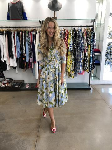 Olivia Jordan wearing Samantha Sung Dress