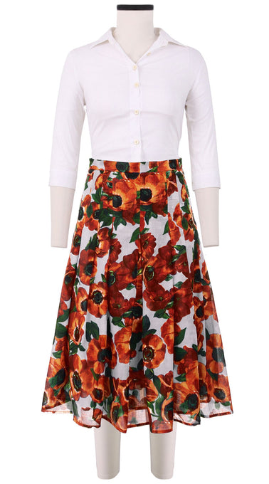 Zeller Skirt Long Length Cotton Musola (Anemone Fokker)