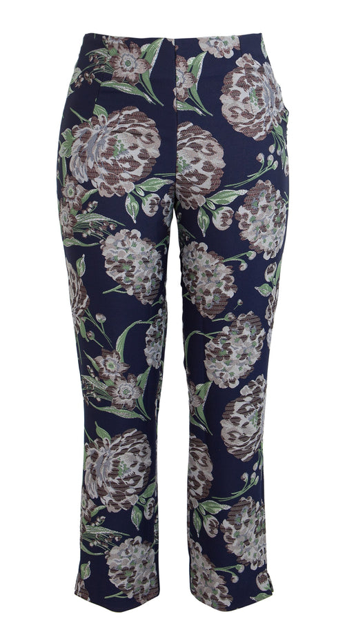 Capri Pants Long Silk Poly Brocade (Balconies Brocade)