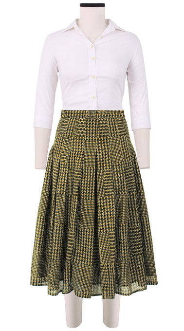 Zeller Skirt Long Length Cotton Musola (Balenciaga Check Bright)