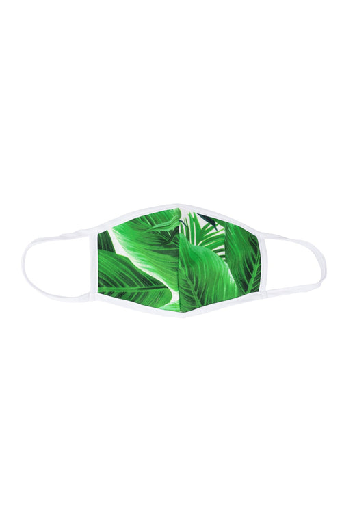 Mask #2_Cotton Stretch_Banana Leaves_Ivy Green