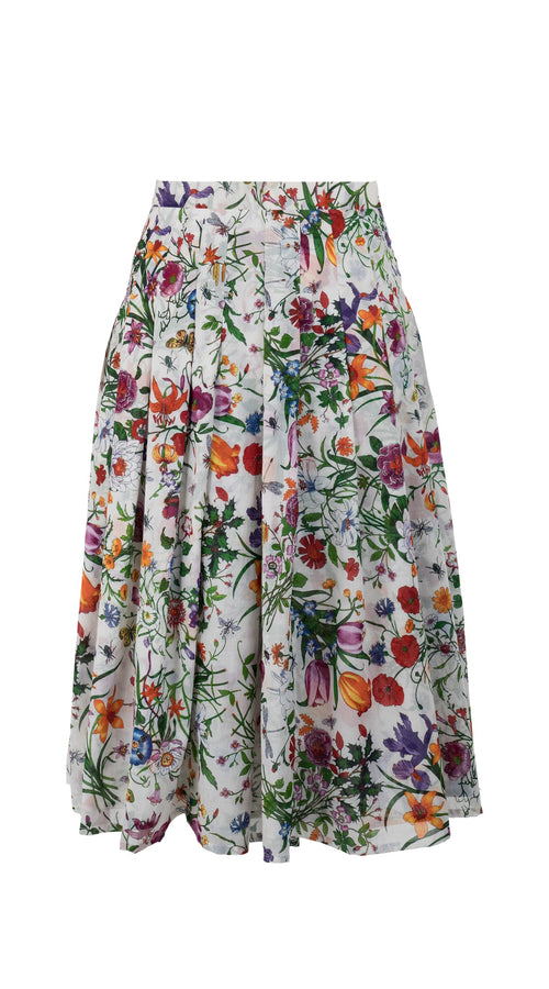 Zeller Skirt Long Length Cotton Musola (Botanical Garden)