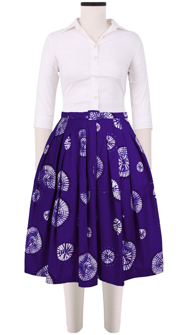 Claire Skirt Cotton Stretch (Buthan Shibori)