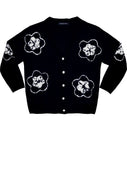 Short | Star Shibori | Black | Front-1 | Cardigan by Samantha Sung