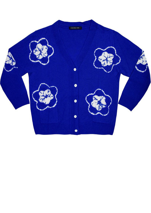 Short | Star Shibori | Cobalt Blue | Front-1 | Cardigan by Samantha Sung