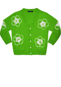 Short | Star Shibori | Grass Green | Front-1 | Cardigan by Samantha Sung