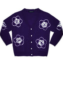 Short | Star Shibori | Eggplant | Front-1 | Cardigan by Samantha Sung