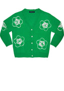 Short | Star Shibori | Pine Green | Front-1 | Cardigan by Samantha Sung
