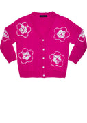 Short | Star Shibori | Pink | Front-1 | Cardigan by Samantha Sung