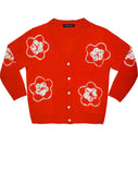 Short | Star Shibori | Scarlet Red | Front-1 | Cardigan by Samantha Sung