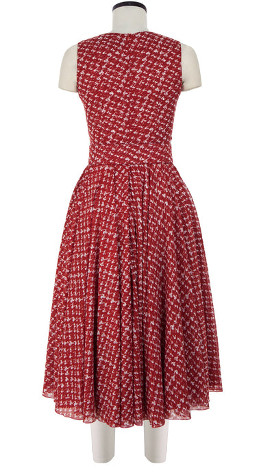 Aster Dress Crew Neck Sleeveless Midi Length Cotton Musola (Channel Tweed)
