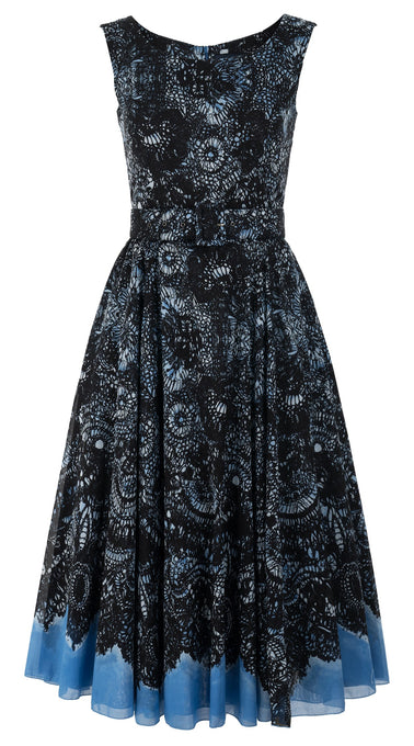 Aster Dress Boat Neck Sleeveless Midi Length Cotton Musola (Chantilly Lace)