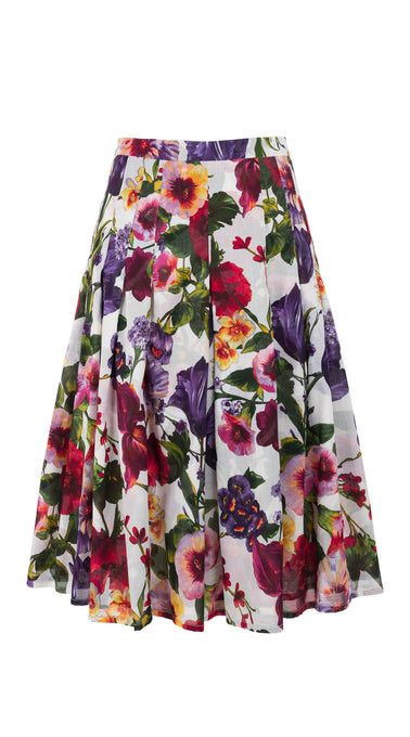 Zeller Skirt Long Length Cotton Musola (Chelsea Garden)