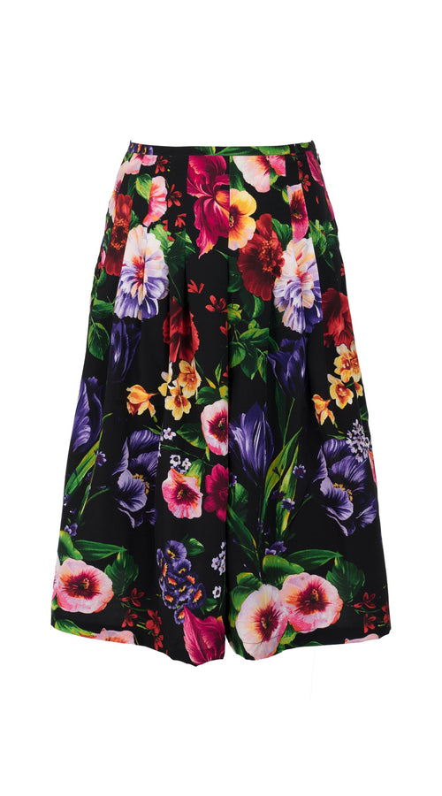 Zelda Skirt Long Length Silk CDC (Chelsea Garden)