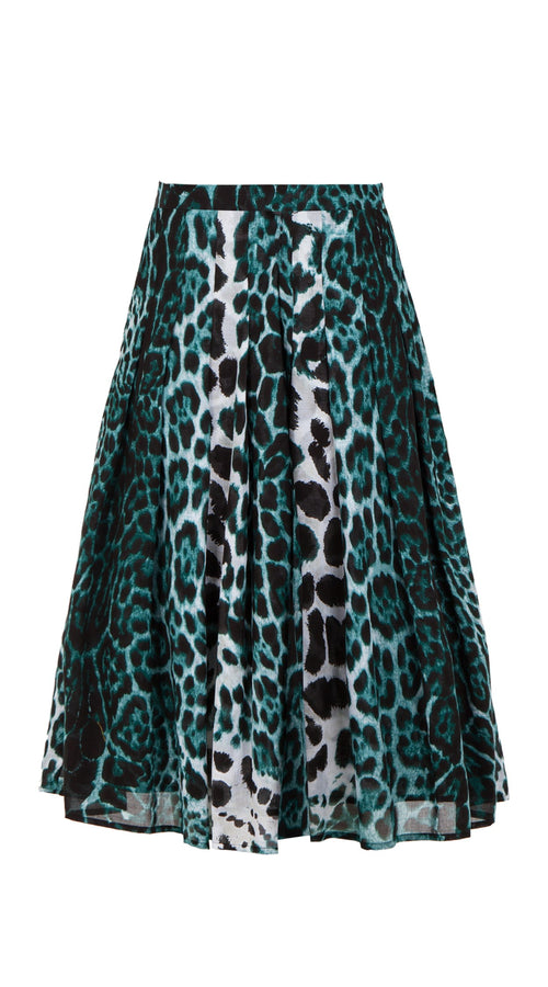 Zeller Skirt Long Length Cotton Musola (Colombo Leopard)