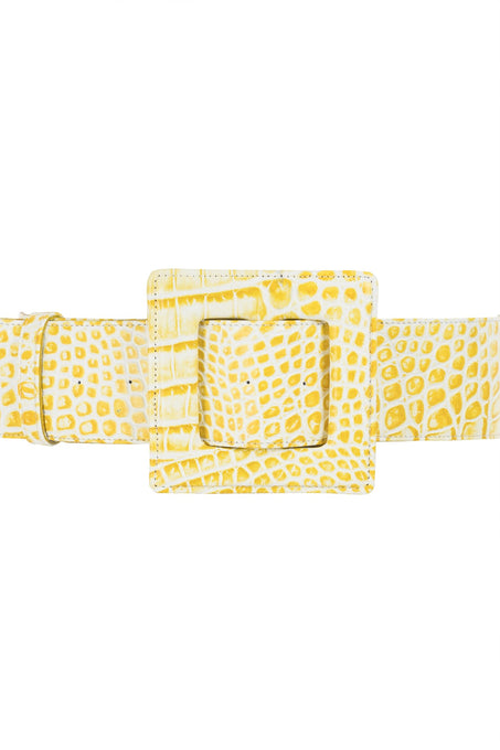Hamilton Belt_Croc Mali_Yellow
