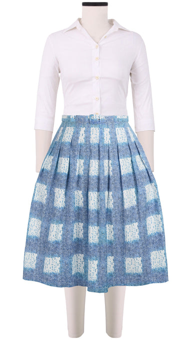 Claire Skirt Cotton Stretch (Cross Dots)
