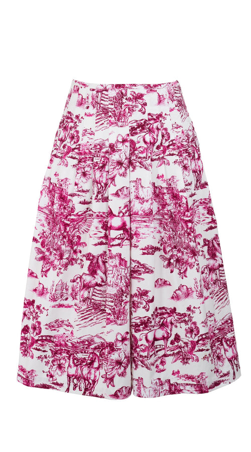 Zelda Skirt Long Length Cotton Stretch (Da Vinci Toile White)