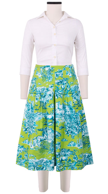 Zelda Skirt Long Length Cotton Stretch (Da Vinci Toile Multi)