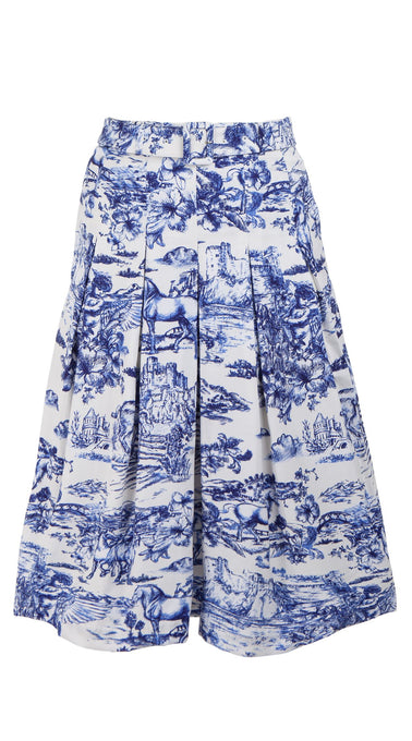 Donna Skirt Long Length Cotton Stretch (Da Vinci Toile White)