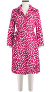 Parisienne Coat Long Sleeve Silk Poly (Dalmatian Ground)