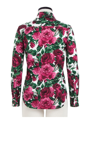 Tess Shirt Shirt Collar Long Sleeve Cotton Stretch (Damask Rose)