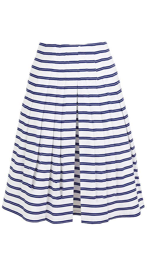 Zelda Skirt Cotton Stretch (Deco Stripe)