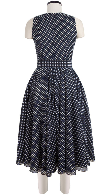 Aster Dress Crew Neck Sleeveless Midi Length Cotton Musola (Dorothy Gingham Bright)