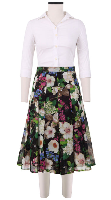 Zeller Skirt Long Length Cotton Musola (Florentine Flowers)