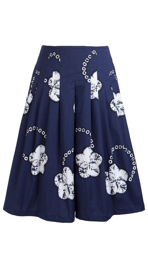 Zelda Skirt Cotton Stretch (Flower Ring Shibori)