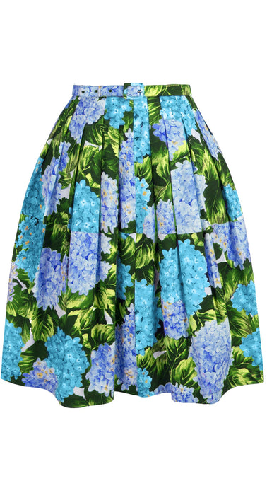 Claire Skirt Cotton Stretch (Hydrangea)