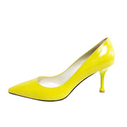 Kelly Pump_8cm_Solid_Lemon Yellow