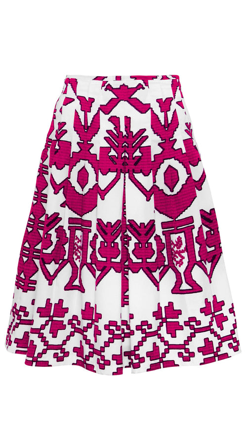 Zelda Skirt Cotton Stretch (Kos Embroidery)