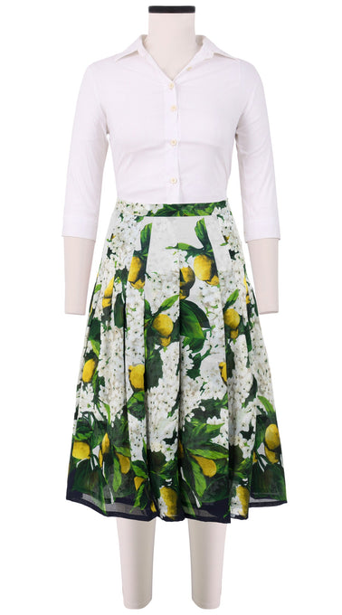Zeller Skirt Long Length Cotton Musola (Lemon Tree Blossom)