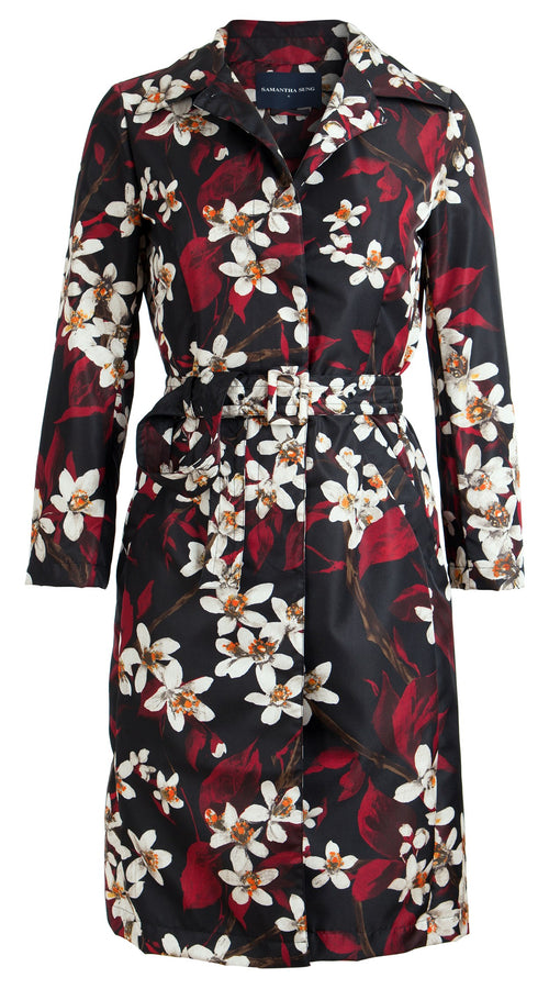 Parisienne Coat Long Sleeve Silk Poly (Magnolia)