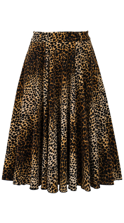 Avenue Skirt Long +3 Length Velveteen (Mini Cheetah)