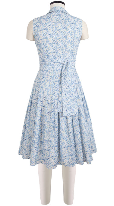 Audrey Dress #2 Shirt Collar Sleeveless Cotton Lawn (Misti Valerie)