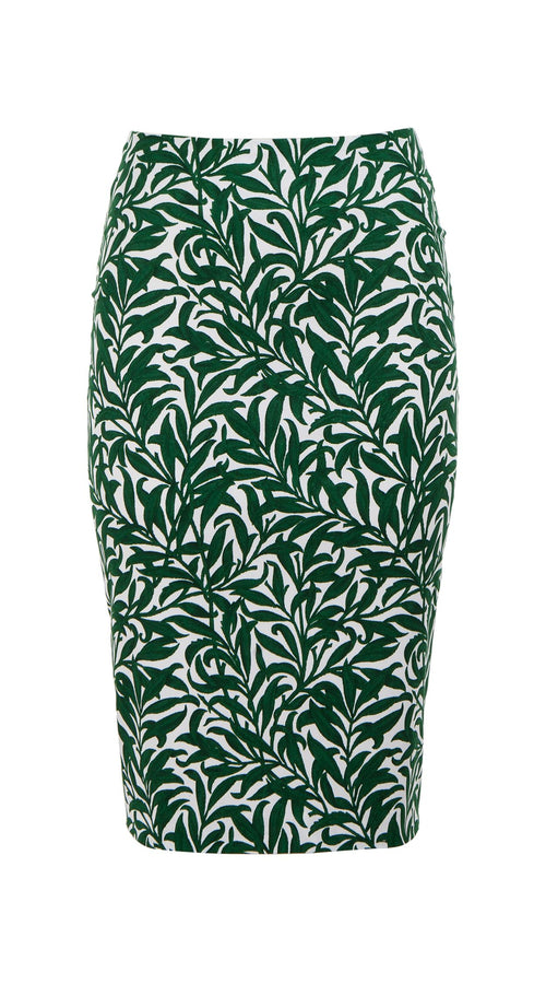 Chloe Skirt Cotton Dobby Stretch (Morris Leaves)