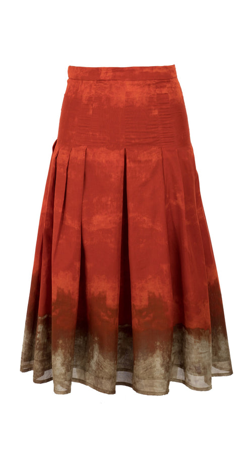 Zeller Skirt Long Length Cotton Musola (Ombre Contrast Bright)