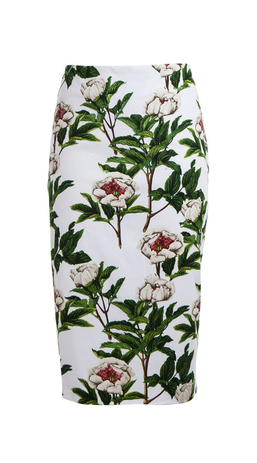 Chloe Skirt Cotton Dobby Stretch (Peony Full Bloom)