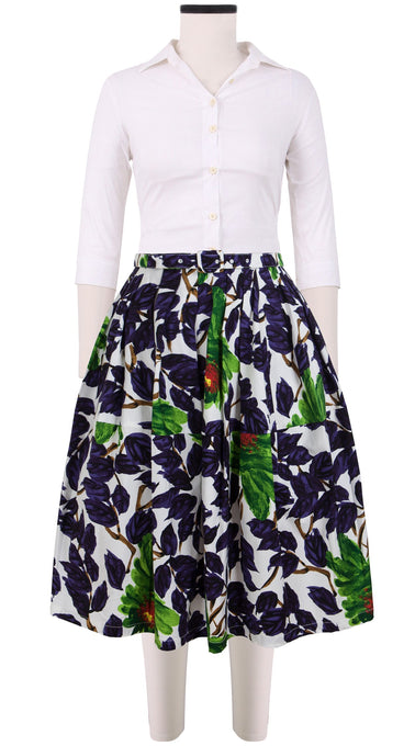 Claire Skirt Cotton Stretch (Picasso Flower)