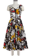 April Dress Open V Neck Sleeveless Midi Length Cotton Stretch (Place Victoire New)